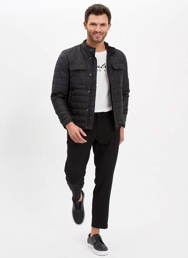 DeFacto Basic Slim Fit Şişme Mont Siyah
